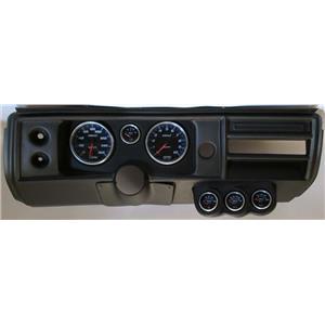 "68 Chevelle Black Dash Carrier w/ Auto Meter 5"" Cobalt Gauges No Astro"