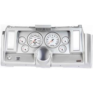 """69 Camaro Silver Dash Carrier w/ Auto Meter Ultra Lite II 5"""" Gauges"""