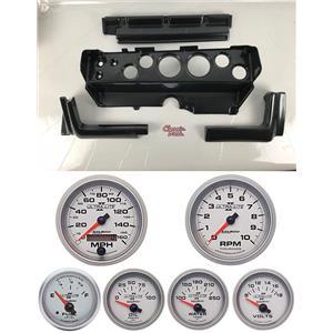 70-74 Mopar E-Body Carbon Dash Carrier w/ Auto Meter Ultra Lite II Gauges
