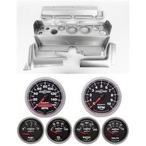 70-74 Mopar E-Body Silver Dash Carrier w/ Auto Meter Sport Comp II Gauges