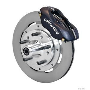 """Wilwood 55-57 Bel Air Front Disc Brake Kit 11.75"""" Plain Rotor Black Caliper"""