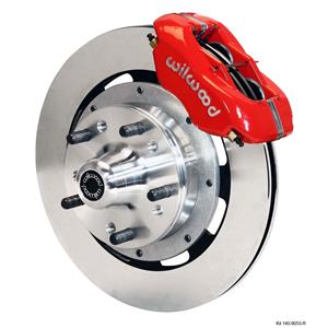 "Wilwood 79-90 Caprice Front Disc Big Brake Kit 12.19"" Plain Rotor Red Caliper"