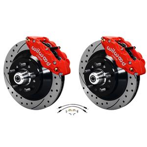 "Wilwood 64-72 Chevelle A-Body Front Disc Big Brake Kit Drilled 12"" w/ Flex Hoses"