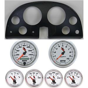 63-67 Corvette Carbon Dash Carrier w/ Auto Meter C2 Gauges