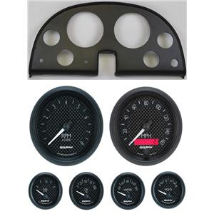 63-67 Corvette Black Dash Carrier w/ Auto Meter GT Gauges