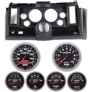 "69 Camaro Black Dash Carrier w/ Auto Meter Sport Comp II 5"" Gauges"