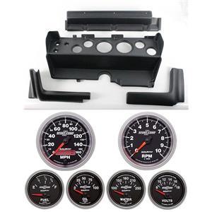 70-74 Mopar E-Body Black Dash Carrier w/ Auto Meter Sport Comp II Gauges