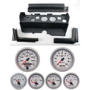 70-74 Mopar E-Body Black Dash Carrier w/ Auto Meter Ultra Lite II Gauges