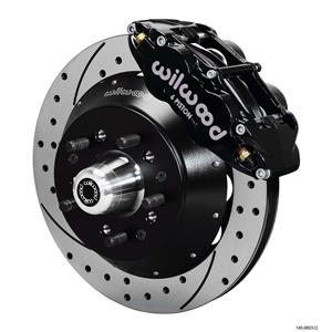 """Wilwood 64-72 Chevelle A-Body Front Disc Big Brake Kit 13"""" Drilled Rotor Black"""