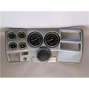 "73-83 GM Truck Silver Dash Carrier w/ Auto Meter 5"" Carbon Fiber Electric Gauges"