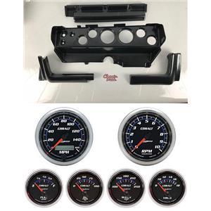 70-74 Mopar E-Body Carbon Dash Carrier w/ Auto Meter Cobalt Gauges