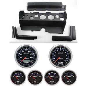 70-74  Mopar E Body Black Dash Carrier w/ Auto Meter Cobalt Gauges