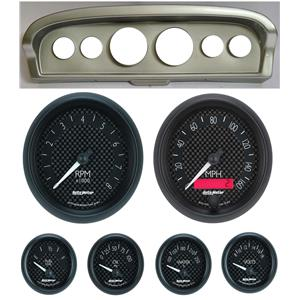 61-66 Ford Truck Silver Dash Carrier w/ Auto Meter GT Gauges