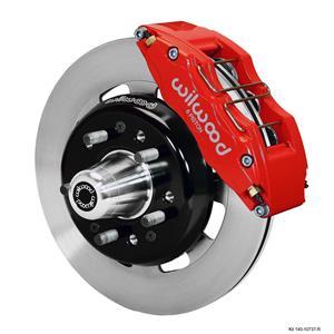 "Wilwood 55-57 Bel Air 210 150 Front Disc Brake Kit 12.19"" Plain Rotor Red"