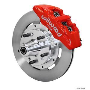 "Wilwood Mopar B & E Body Front Disc Big Brake Kit 12"" Plain Rotor Red Caliper"