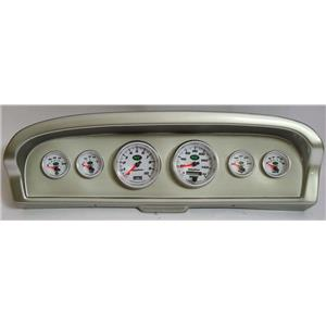 61-66 Ford Truck Silver Dash Carrier w/ Auto Meter NV Gauges