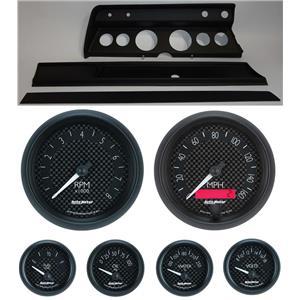 67 Chevelle Black Dash Carrier w/ Auto Meter GT Gauges