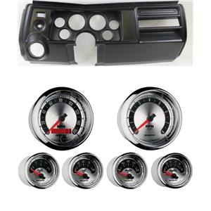 """69 Chevelle Black Dash Carrier w/ Auto Meter 3-3/8"""" American Muscle Gauges"""