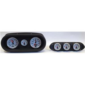 62-64 Nova Black Dash Carrier w/ Auto Meter C2 Gauges
