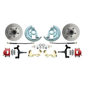 "F/X Body Front Disc Brake Wheel Kit Standard Rotor Red Caliper 2"" Drop"