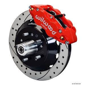 "Wilwood Mopar B & E Body Front Disc Big Brake Kit 12.88"" Drilled Rotor Red"