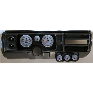 """68 Chevelle Carbon Dash Carrier w/ Auto Meter 5"""" C2 Gauges No Astro"""