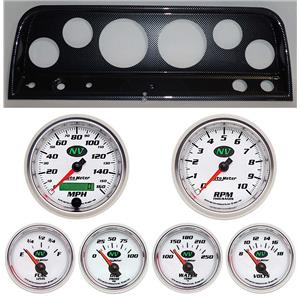 64 Chevy Truck Carbon Dash Carrier w/ Auto Meter NV Gauges