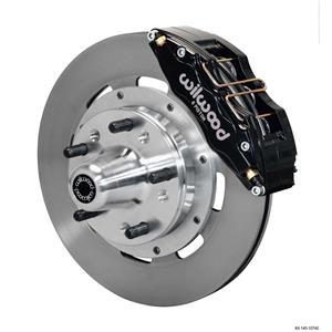 "Wilwood Mopar B & E Body Front Disc Big Brake Kit 12"" Plain Rotor Black Caliper"