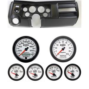 "69 Chevelle Black Dash Carrier w/ Auto Meter 3-3/8"" Phantom II Gauges"