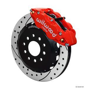 "Wilwood 88-96 C-4 Corvette Front Disc Big Brake Kit 12.88"" Drilled Rotor Red"