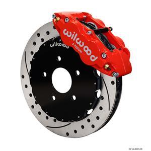 "Wilwood 97-04 C5 Corvette Front Disc Big Brake Kit 13"" Drilled Rotor Red Caliper"