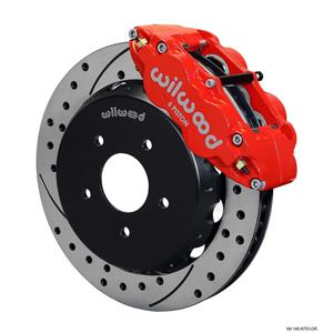 "Wilwood 04-06 GTO Front Disc Big Brake Kit 13.06"" Drilled Rotor Red Caliper"