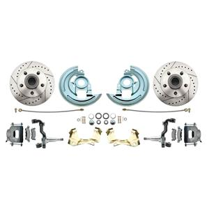 F/X Body Front Disc Brake Wheel Kit Drilled Slotted Raw Caliper Stock Height