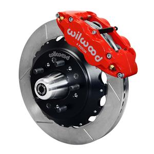 "NEW WILWOOD FULL FRONT DISC BRAKE KIT, 13"" ROTORS, RED SUPERLITE 6 PISTON CALIPERS, PADS, 1979-1987"