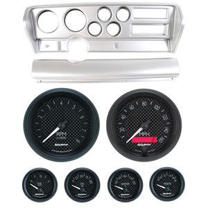 70-72 GTO Silver Dash Carrier w/ Auto Meter GT Gauges