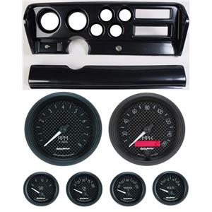 70-72 GTO Carbon Dash Carrier w/ Auto Meter GT Gauges