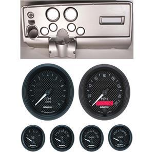 69 Pontiac Firebird Silver Dash Carrier w/ Auto Meter GT Gauges