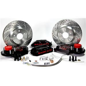 """BAER Brakes 13"""" Front Track4 Brake System GM AFX Body Black Powder Coat"""