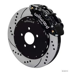 "Wilwood 94-04 Mustang Front Disc Big Brake Kit 14"" Drilled Rotor Black Caliper"