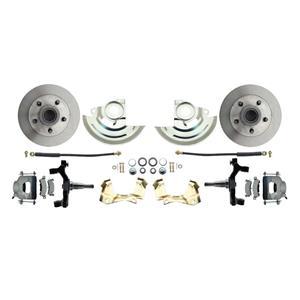 "F/X Body Front Disc Brake Wheel Kit Standard Rotor Raw Caliper 2"" Drop"