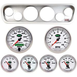 64-66 Mustang Silver Dash Carrier w/ Auto Meter NV Gauges