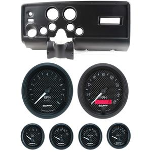 69 Pontiac Firebird Black Dash Carrier w/ Auto Meter GT Gauges