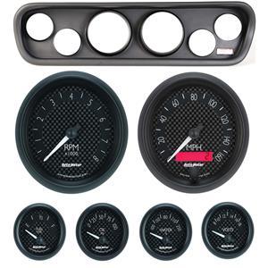 64-66 Mustang Black Dash Carrier w/ Auto Meter GT Gauges