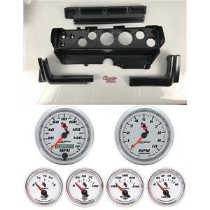 70-74 Mopar E-Body Carbon Dash Gauge Carrier w/ Auto Meter C2 Gauges