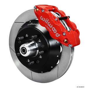 "Wilwood 67-69 Camaro Firebird Front Disc Big Brake Kit 13"" Plain Rotor Red"