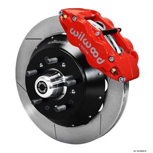 "Wilwood 64-72 Chevelle A-Body Front Disc Big Brake Kit 14"" Plain Rotor Red"