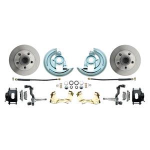 F/X Body Front Disc Brake Wheel Kit Standard Rotor Black Caliper Stock Height