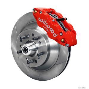 "Wilwood Mopar B & E Body Front Disc Big Brake Kit 12.88"" Plain 1 pc Red Caliper"