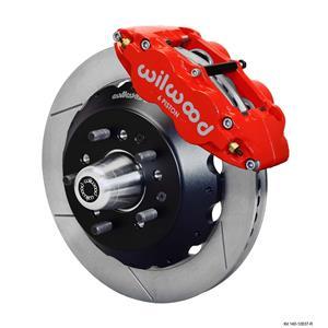 "Wilwood Big Brake 65-69 Ford Front Disc Brake Kit 12.88"" Plain Rotor Red Caliper"