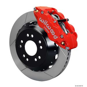 "Wilwood 65-82 Corvette Front Disc Big Brake Kit 14"" Plain Rotor Red Caliper"